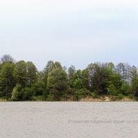 Розмитий південний берег острова Мур. 27.04.2014 р.