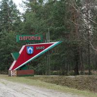 Знак при въезде в город со стороны Мозыря