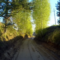 Вход в село Ильинка.
