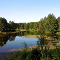 По утру рыбалить на озеро.