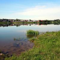 Утро,озеро, тишина.