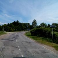 Въезд в деревню со стороны Кузминичей