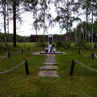 Место падения самолета лейтенанта Г.Пискарева. Место боя и гибели.