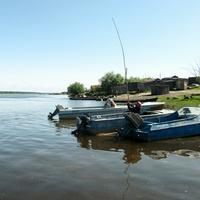 Саранпауль. Пристань. Ханты-Мансийский автономный округ-Югра. Река Ляпин.