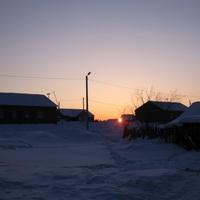 Саранпауль. Закат. Ханты-Мансийский автономный округ-Югра.