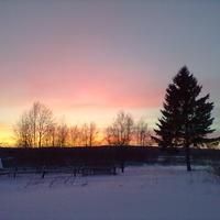 Вечерний пейзаж в с.Юрьевское