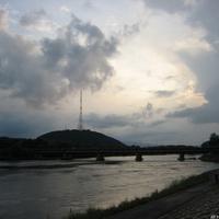Мост через реку Бира и башня телецентра