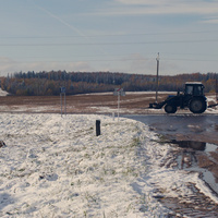 Ранiцой. Першы снег. 2013 год.