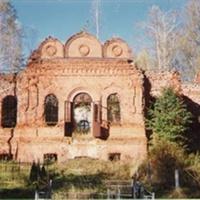 Зачатьевский храм около села Гора. Вид с запада (основательно разрушен)