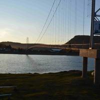 Пешеходный мост через Иркут