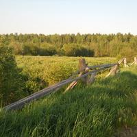 дорога от фермы в поля