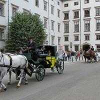 Прогулки на лошадях через двор Ин дер Бург