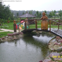 Детская площадка частной усадьбы близ д. Ушмор Ряз. обл.