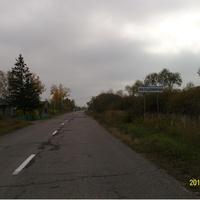 Дорожный указатель в деревне Якушевичи