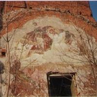 Остатки фресок Николо-Ялминского храма в бывшем селе Ялмонт