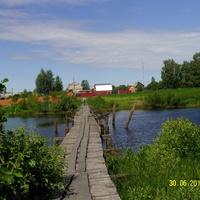 Мост через реку Поля в деревне Воронинская