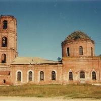 Храм Воскресения Словущего в с. Куплиям (до восстановления)
