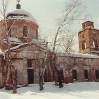 Знаменский храм в д. Знаменское  (до восстановления)