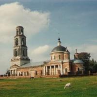 Храм Воскресения Христова в с. Ильинский Погост перед восстановлением