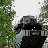 МАЗ 200 у ворот автобазы №1 ( до июля 2014 года)