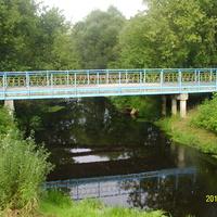 Пешеходный мостик через р. Воймега в г. Рошаль