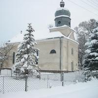 вид на церкву взимку