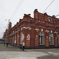 Вид на ж/д станцию.