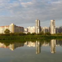 Вид на город.Озеро Долгое.2014г.
