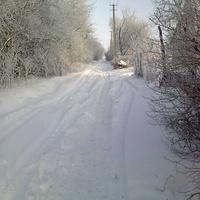 вулиці Ясеноватки взимку