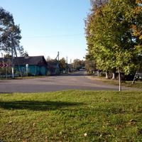перекресток в центре поселка