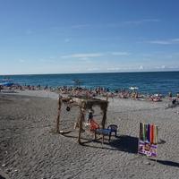 Гагра.Пляж в сентябре 2014г.