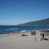Гагра.Пляж.