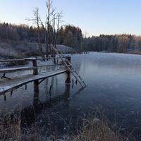 Плотина в Александровке.