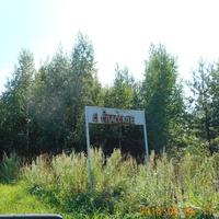 Дорожный указатель по дороге к с. Спасское.