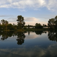 Проток Иртыша близ центра города