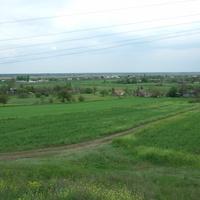 Вид на село с ЖД вокзала
