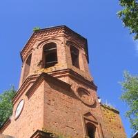 Вид на колокольню церкви Успенья Святой Богородицы в Ясенском. 2009 г.