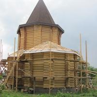 Строительство храма в Ясенском, июль 2014.