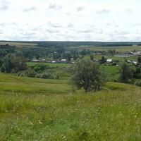Вид на село с горы