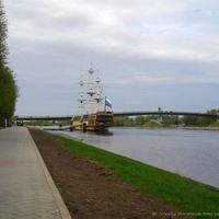 Новгород. Набережная, р. Волхов