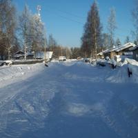 поселок Олений зима