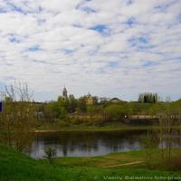 Старица, панорама Церкви Спаса Нерукотворного и Бориса и Глеба