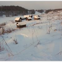 Кожинские бани зимой