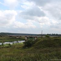Кидекша. Мост через р. Нерль, вид со стороны Борисоглебского монастыря