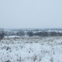 Зимний вид на село