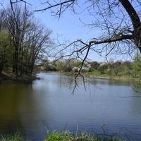 Озеро возле фермы.