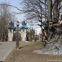Поселок совхоза им Ленина. Парк около музея клоунов.