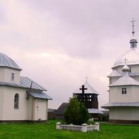 The newly rebuilt church in the village Prylbychi.
