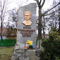 Ostap Nyzhankivsky monument in Zavadiv