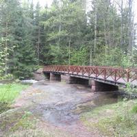 Лангинкоски, река Кюмийоки, мостик